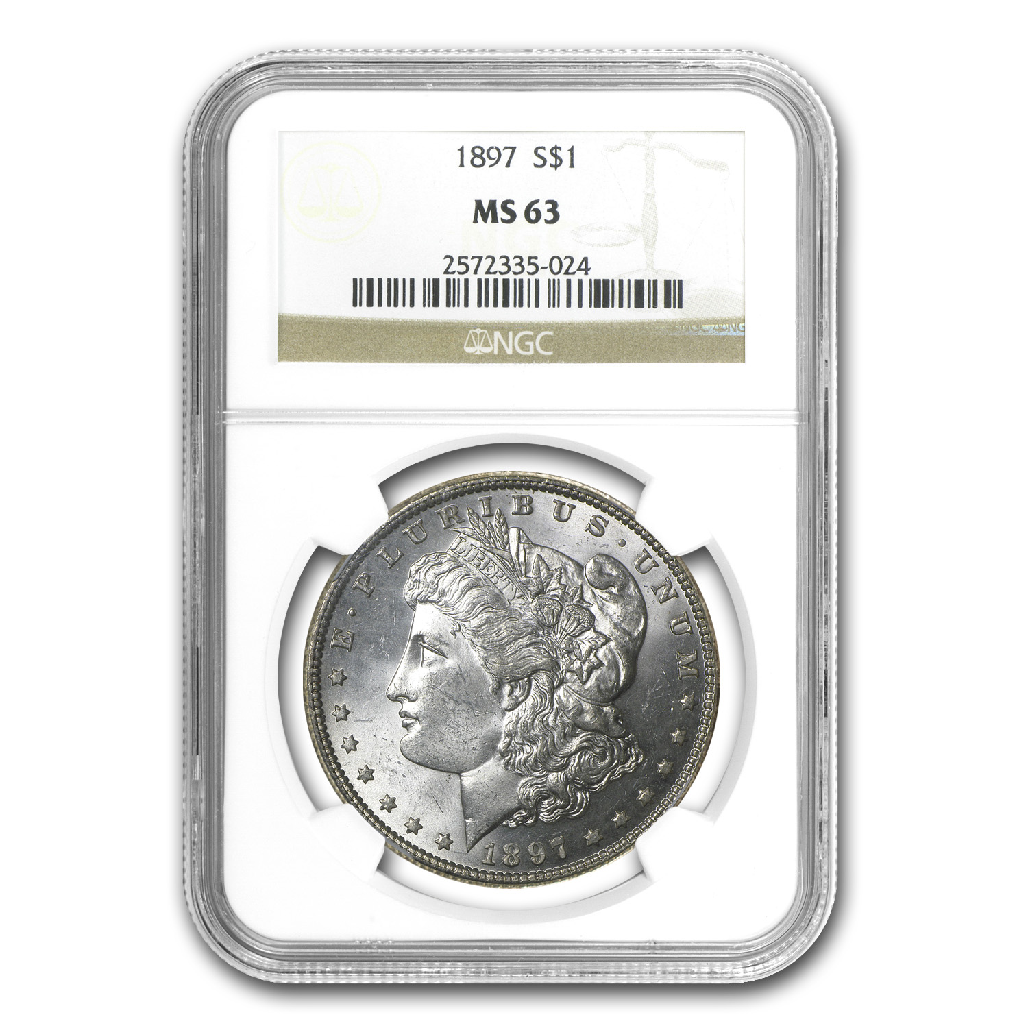 1897 Morgan Dollar MS-63 NGC