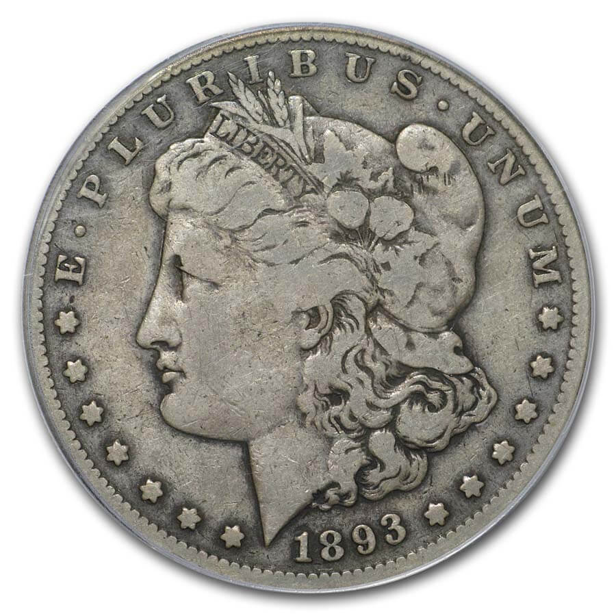 1893-S Morgan Dollar VG-10 PCGS