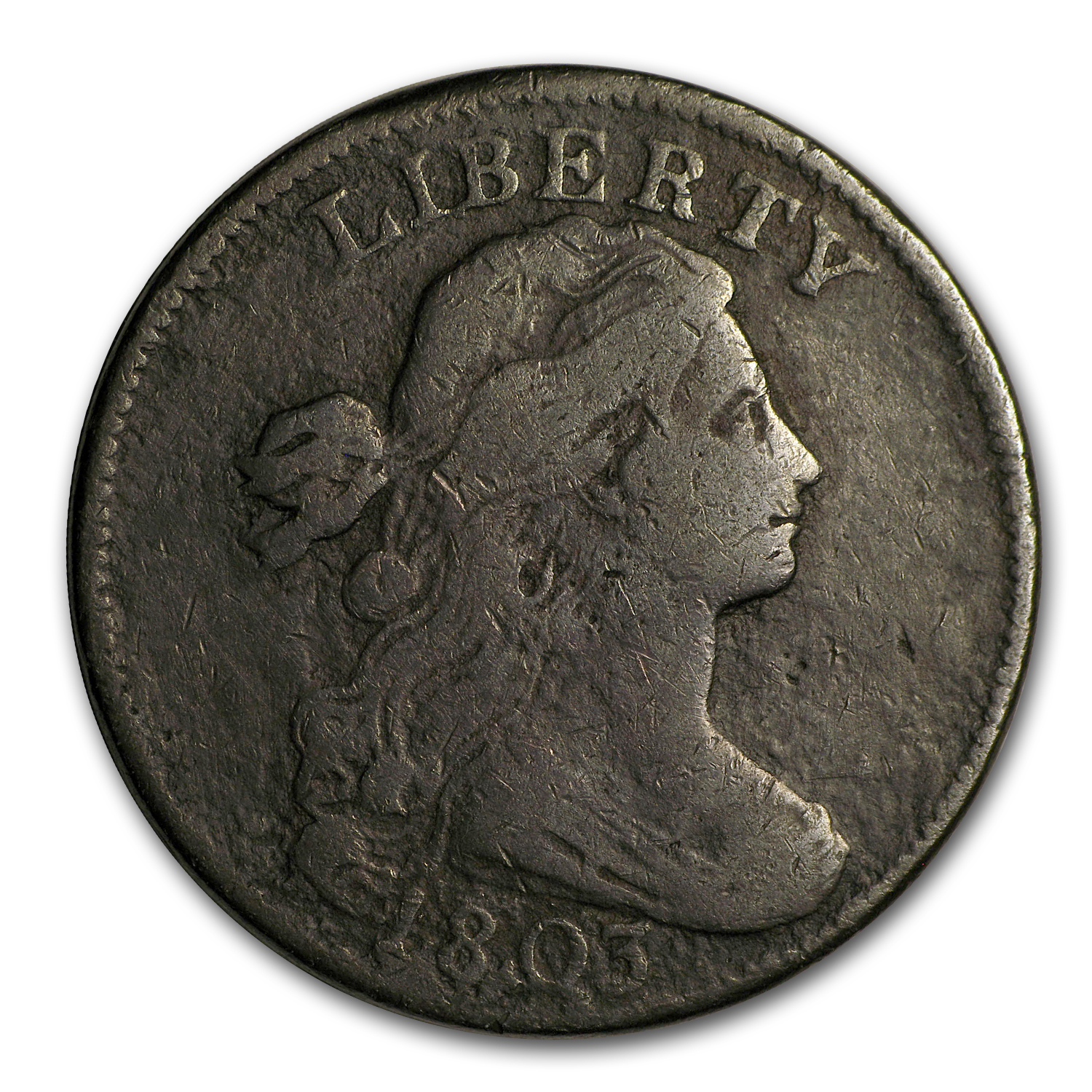 1803 Large Cent Lg Date/Lg Fraction Fine