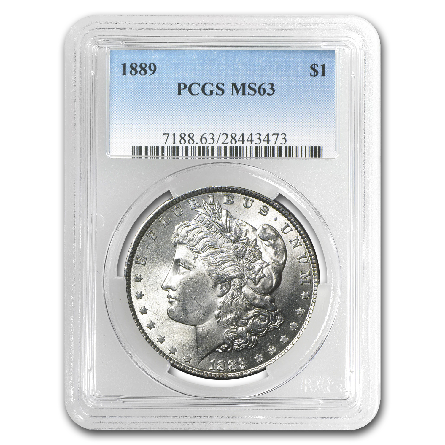 1889 Morgan Dollar MS-63 PCGS