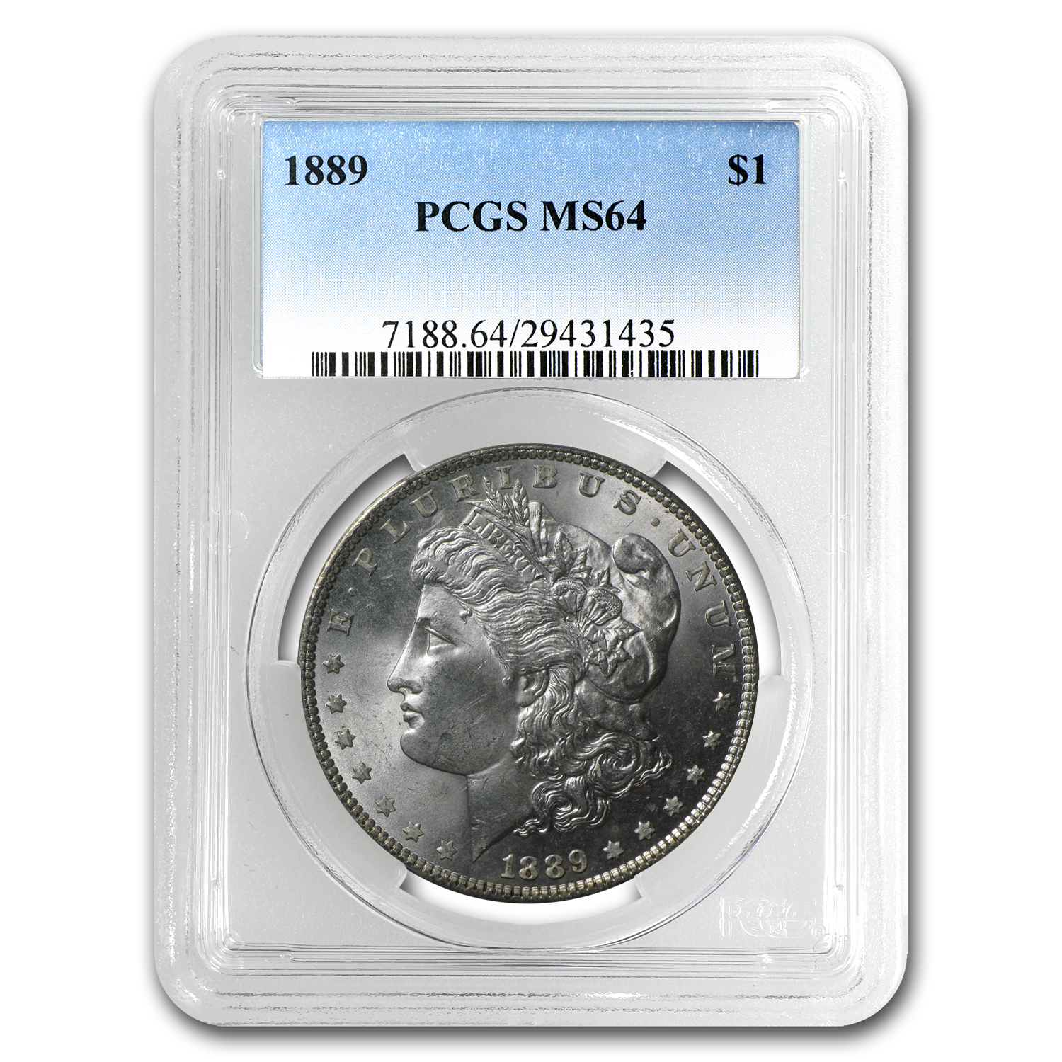 1889 Morgan Dollar - MS-64 PCGS