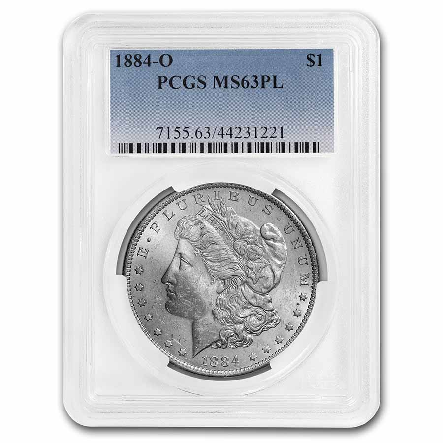 1884-O Morgan Dollar MS-63 PL Proof Like PCGS