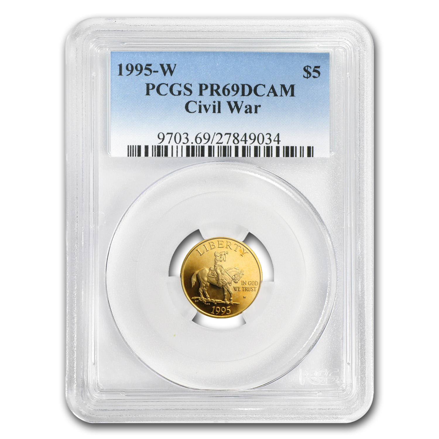 1995-W Civil War - $5 Gold Commemorative - PR-69 DCAM PCGS