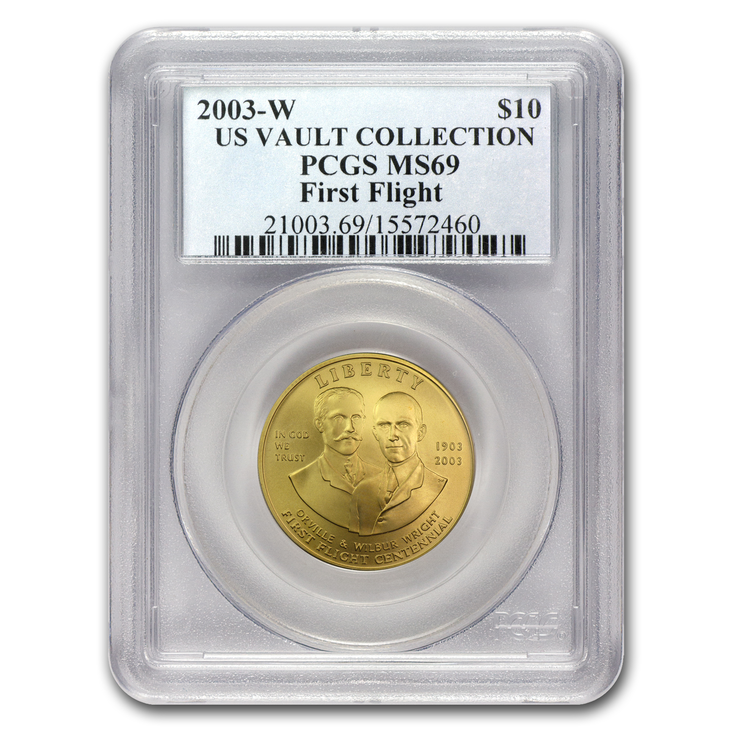 2003-W Gold $10 Commem First Flight Centennial MS-69 PCGS