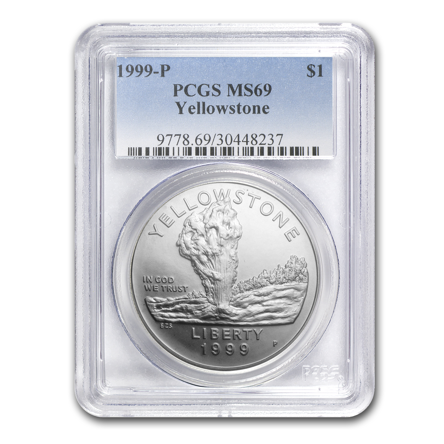 1999-P Yellowstone Park $1 Silver Commemorative MS-69 PCGS