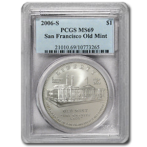 2006-S San Francisco Old Mint $1 Silver Commemorative MS-69 PCGS