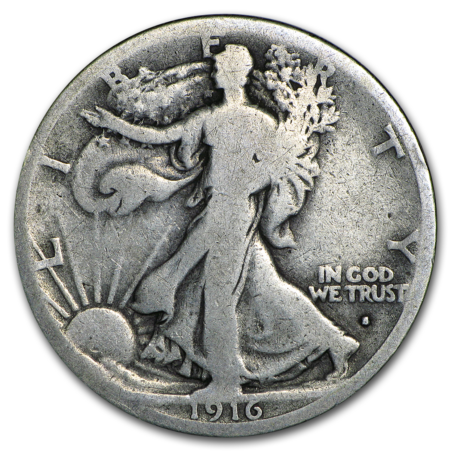 1916-S Walking Liberty Half Dollar Good