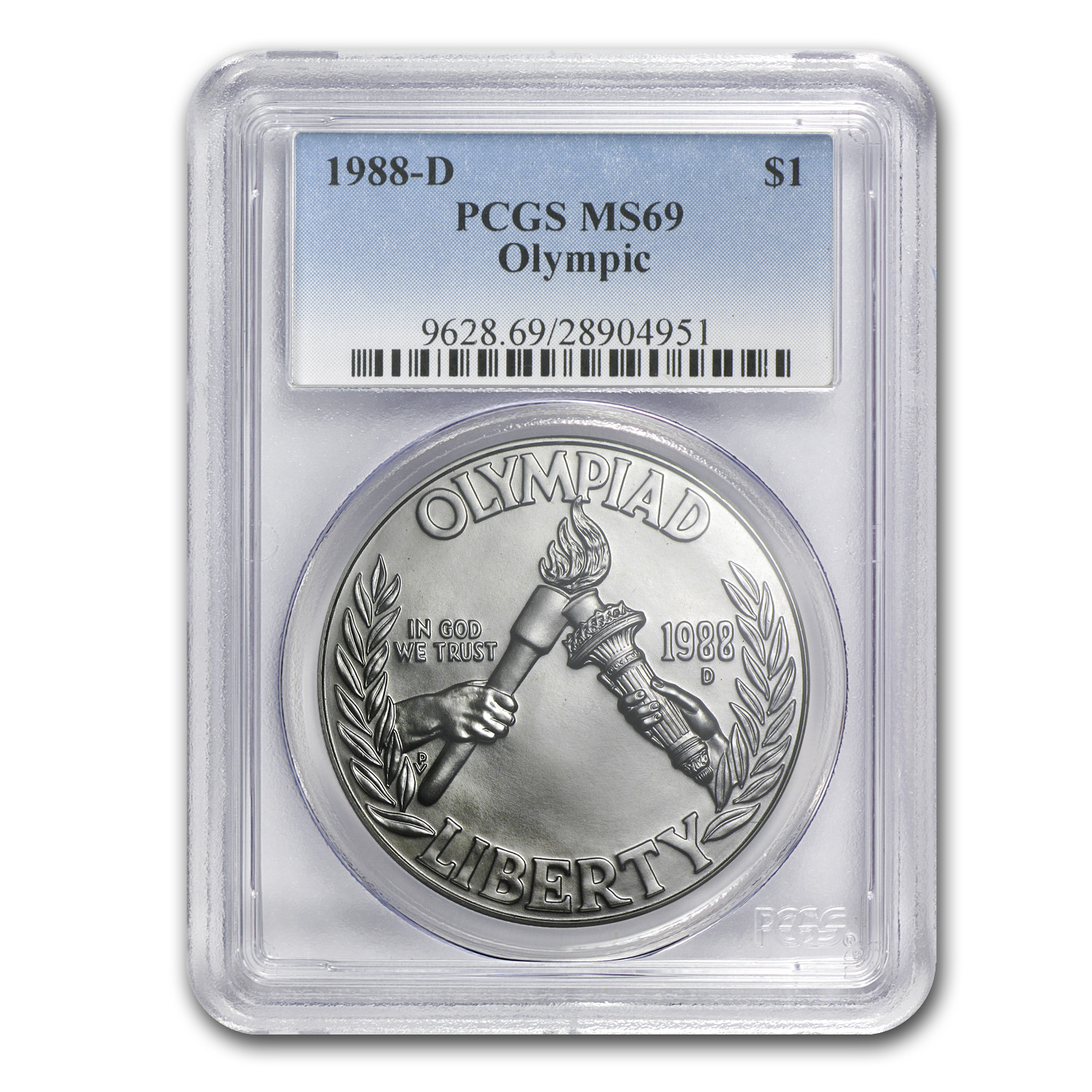 1988-D Olympic $1 Silver Commemorative MS-69 PCGS