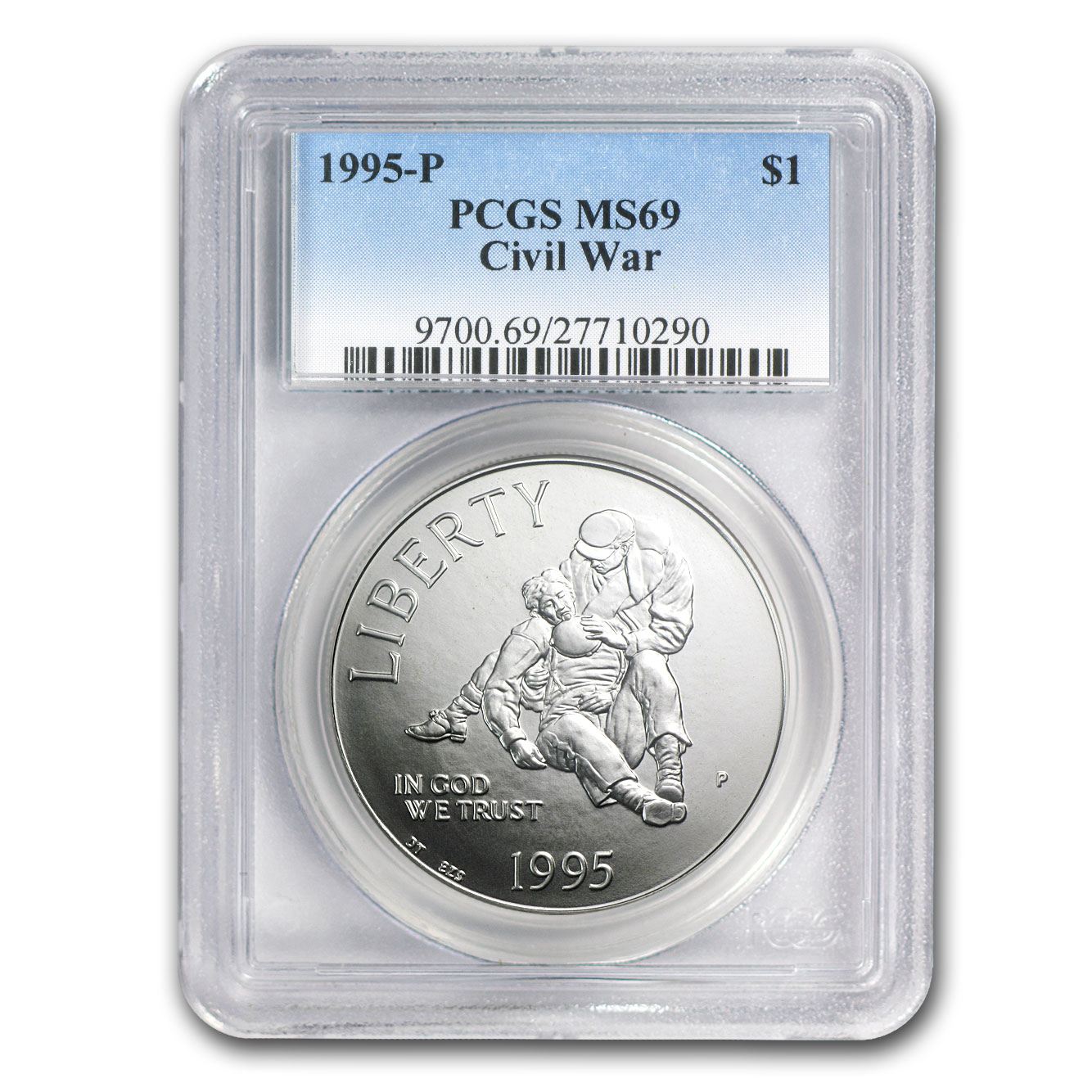 1995-P Civil War $1 Silver Commem MS-69 PCGS
