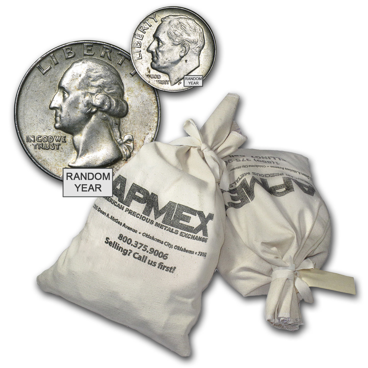 90% Silver Coins - $1,000 Face-Value Bag