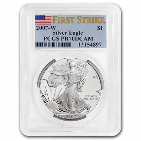 2007 W Proof Silver American Eagle Pr 70 Pcgs Fs