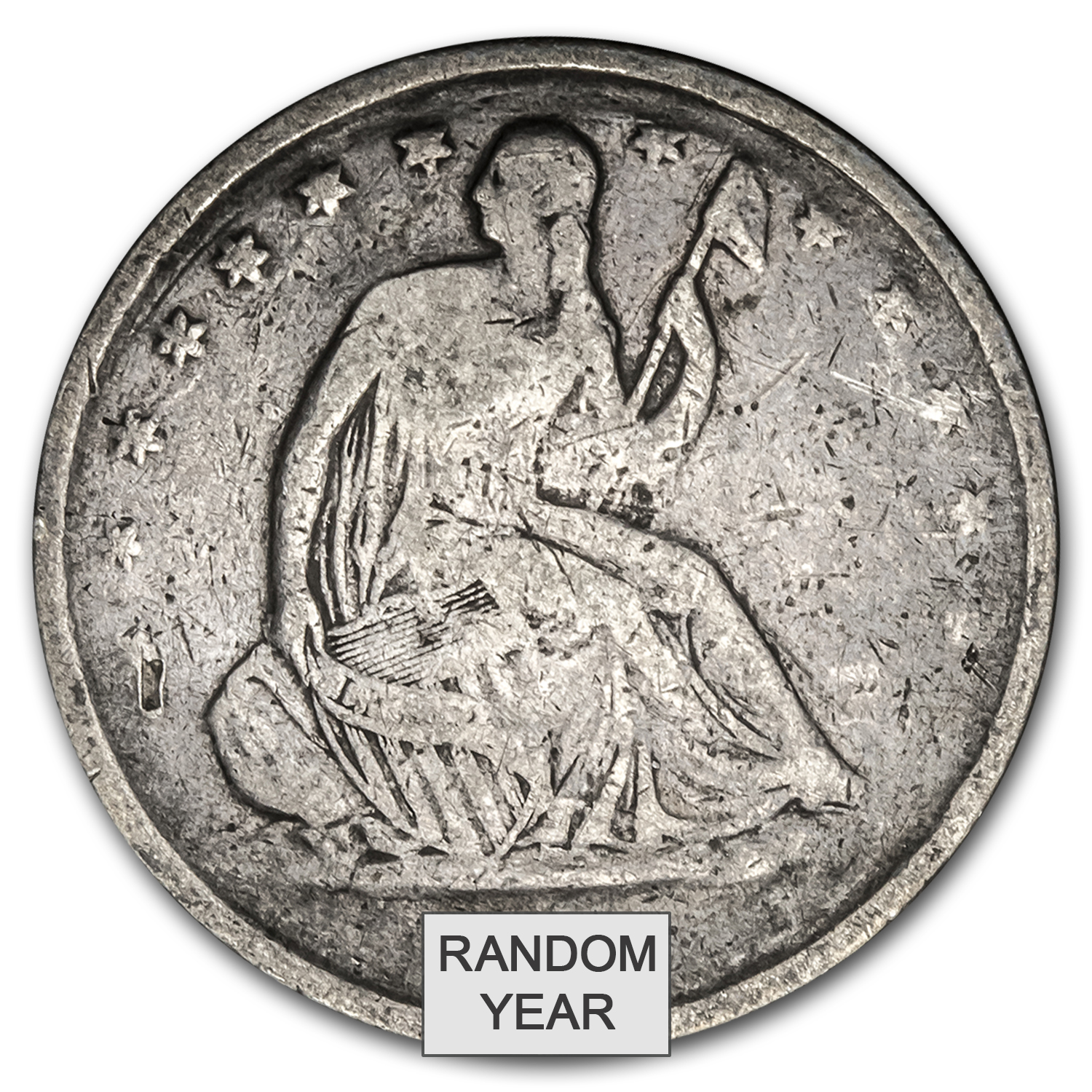 1839-1891 Liberty Seated Half Dollars (Culls)