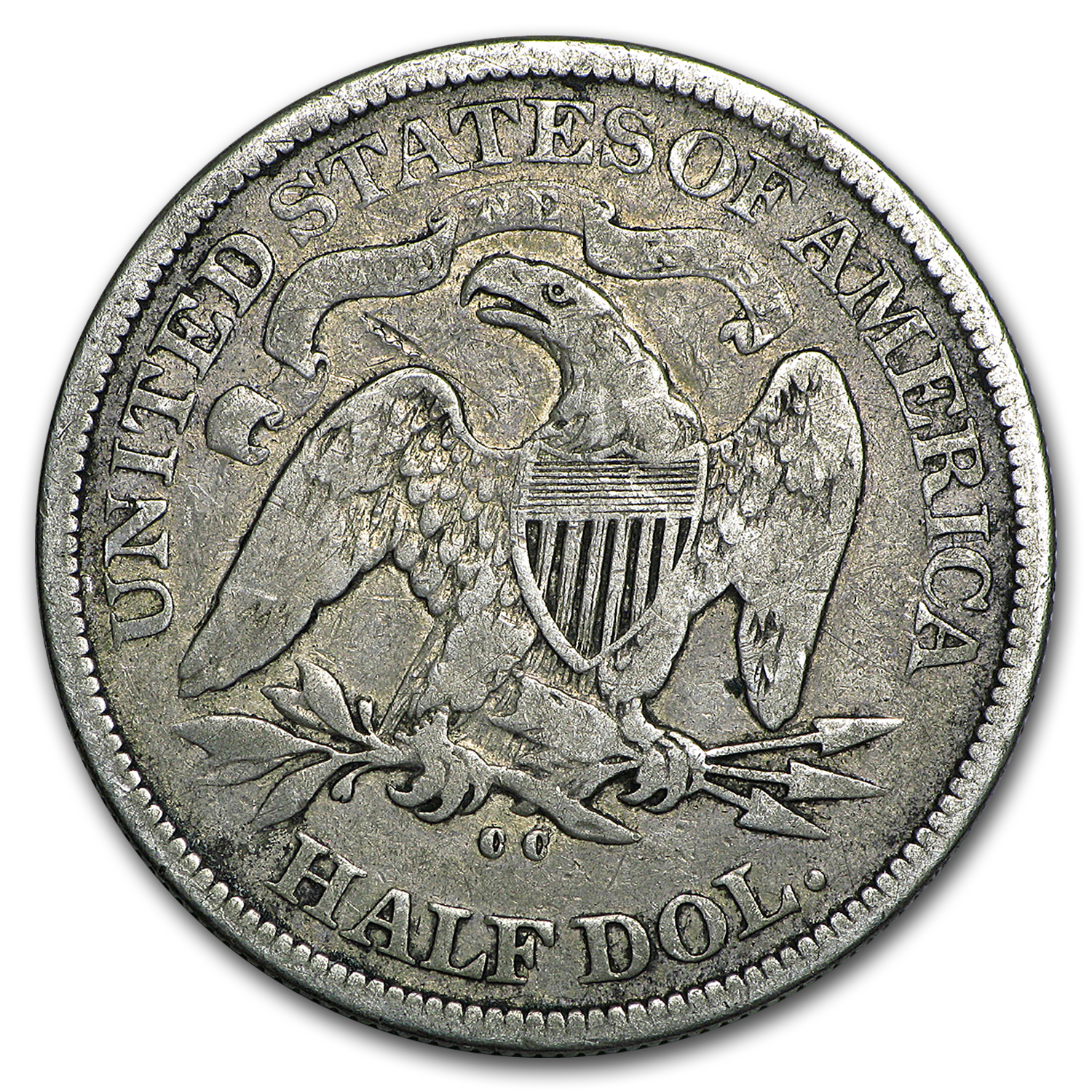 1876-CC Liberty Seated Half Dollar VG