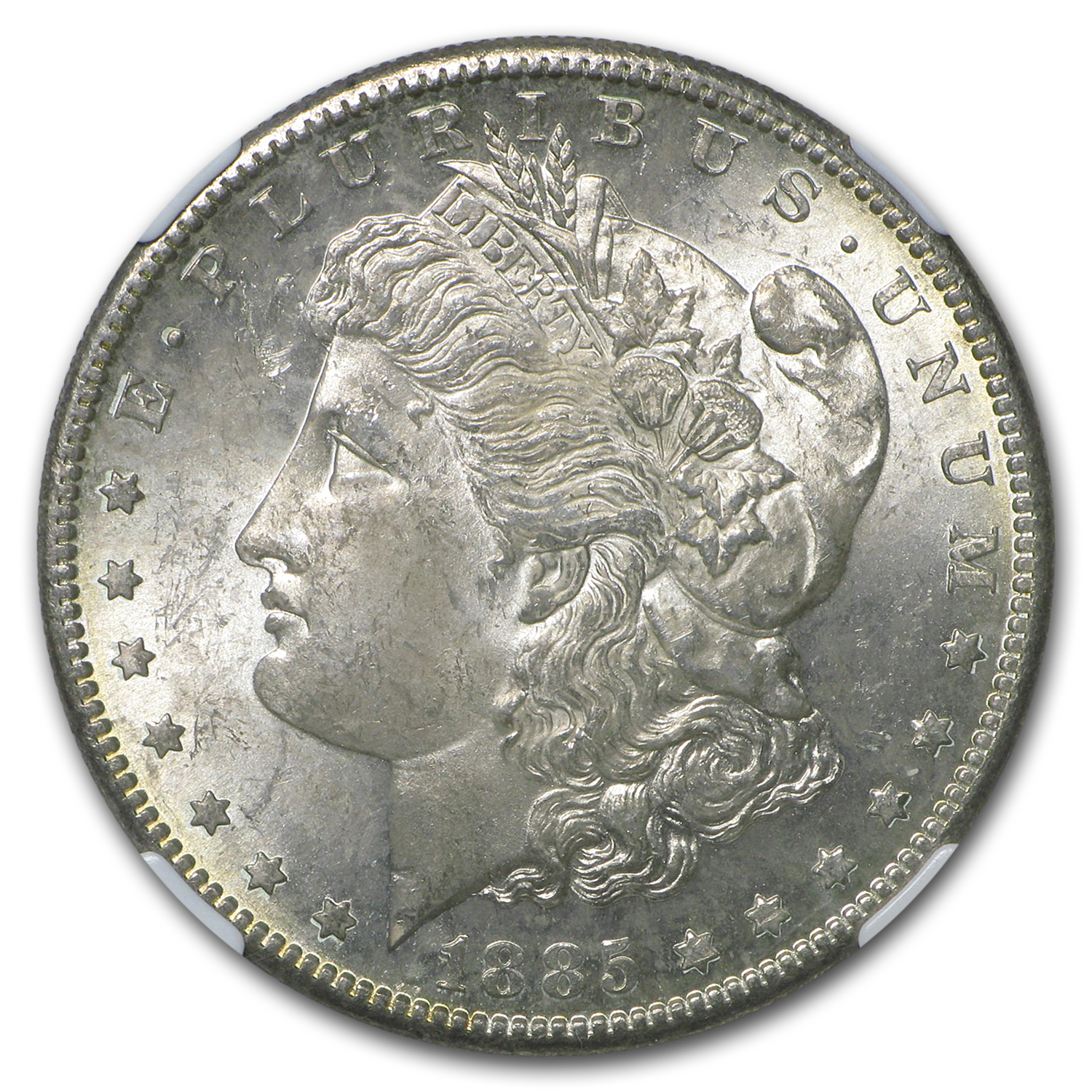 1885-S Morgan Dollar MS-62 NGC