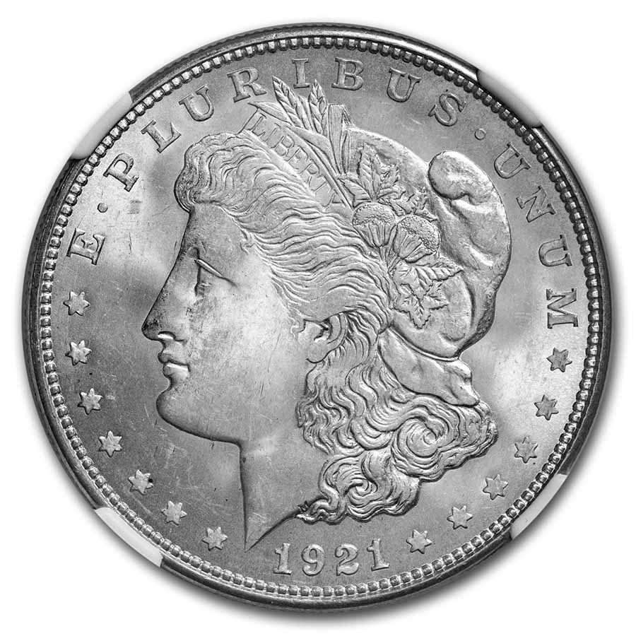 1921-D Morgan Dollar MS-65 NGC