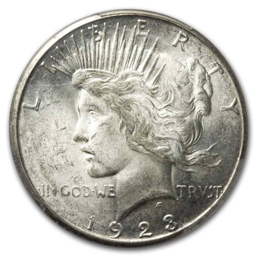 1923-S Peace Dollar MS-64 PCGS