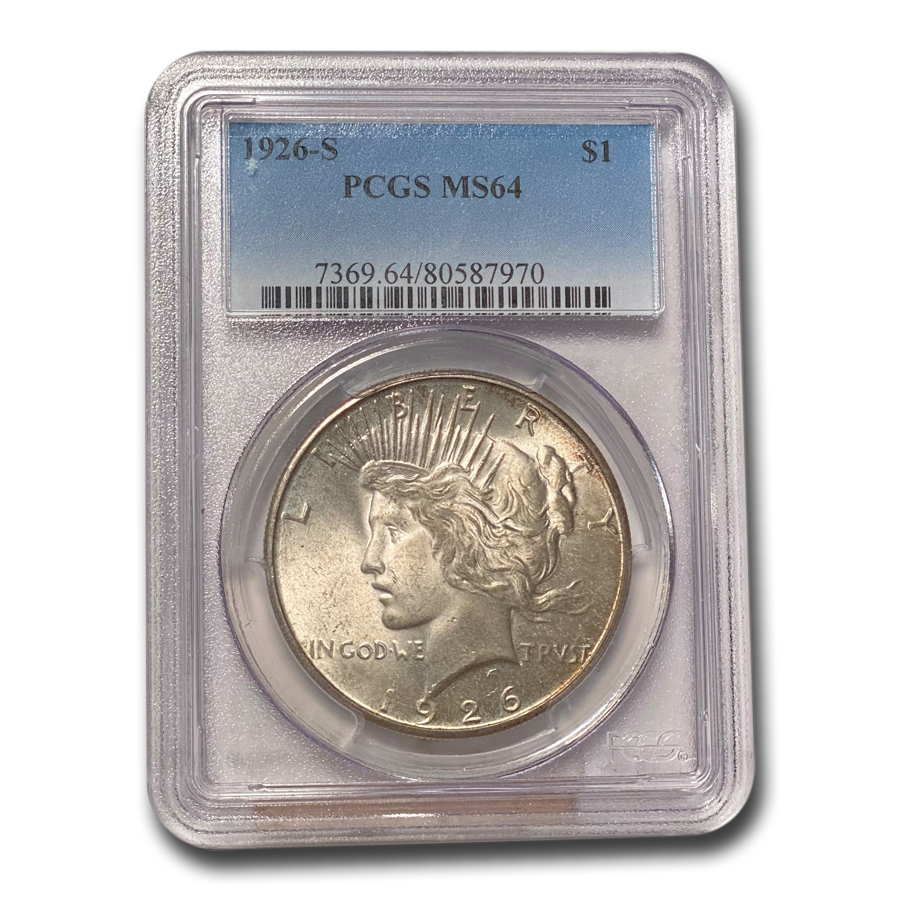 1926-S Peace Dollar MS-64 PCGS