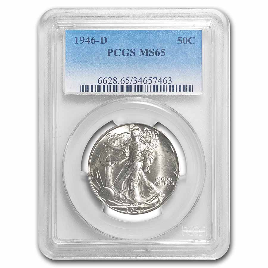 1946-D Walking Liberty Half Dollar MS-65 PCGS