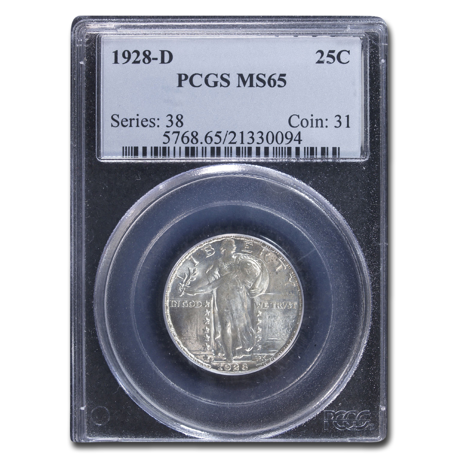 1928-D Standing Liberty Quarter MS-65 PCGS