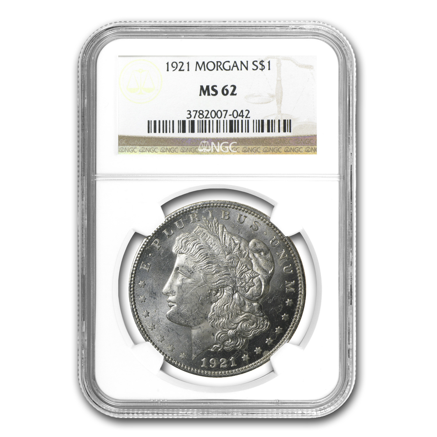 1921 Morgan Dollar MS-62 NGC