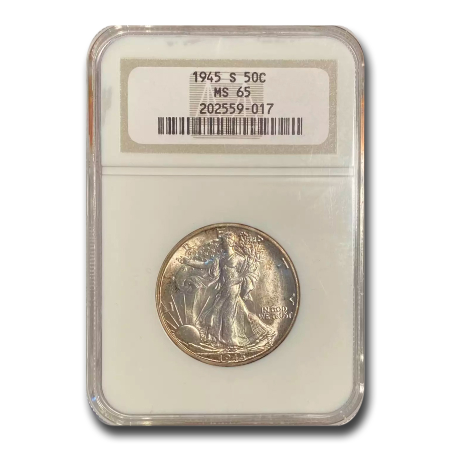 1945-S Walking Liberty Half Dollar MS-65 NGC