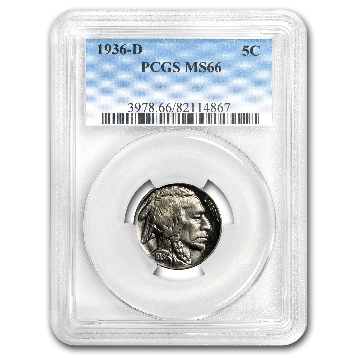 1936-D Buffalo Nickel MS-66 PCGS