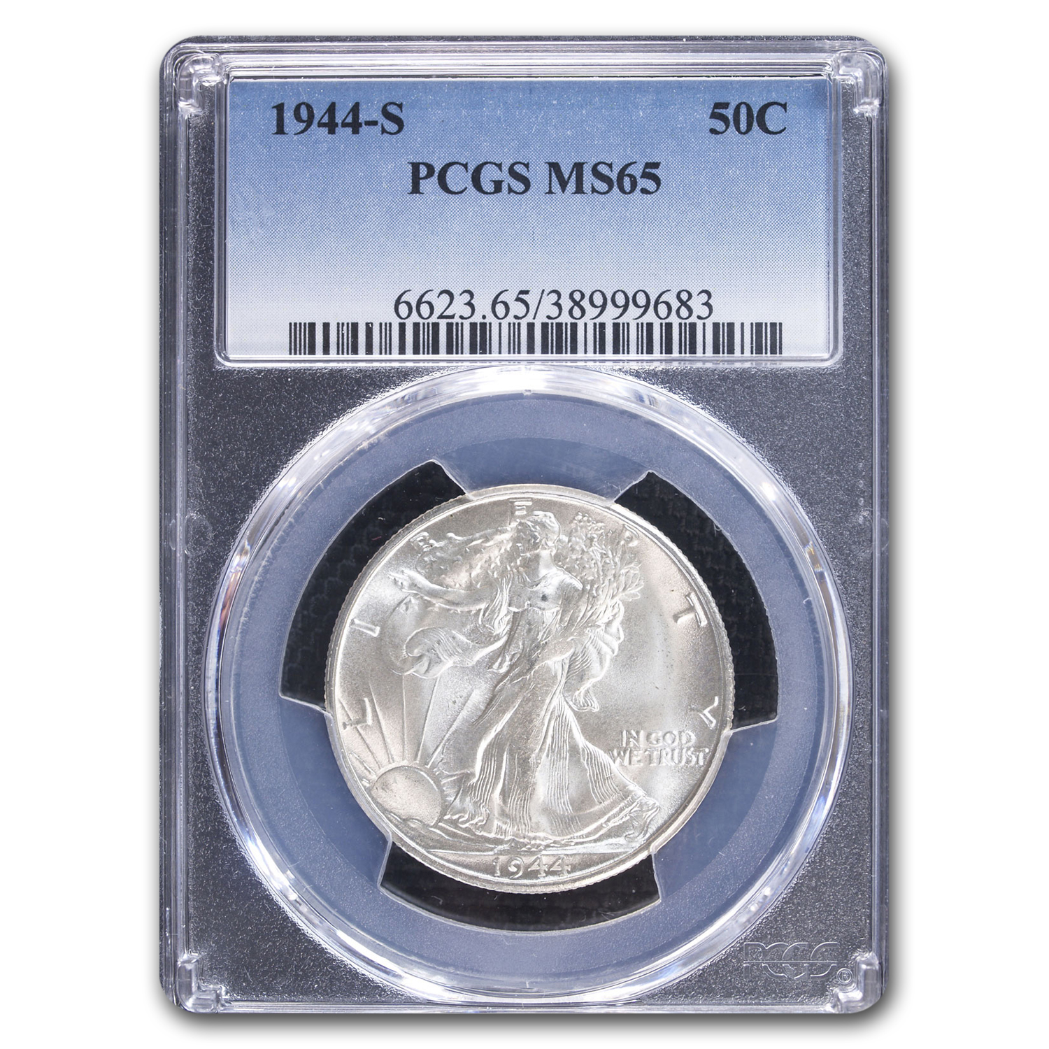 1944-S Walking Liberty Half Dollar MS-65 PCGS