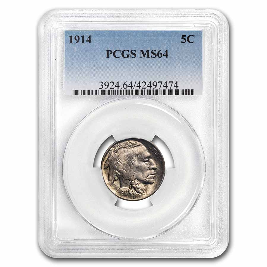 1914 Buffalo Nickel MS-64 PCGS