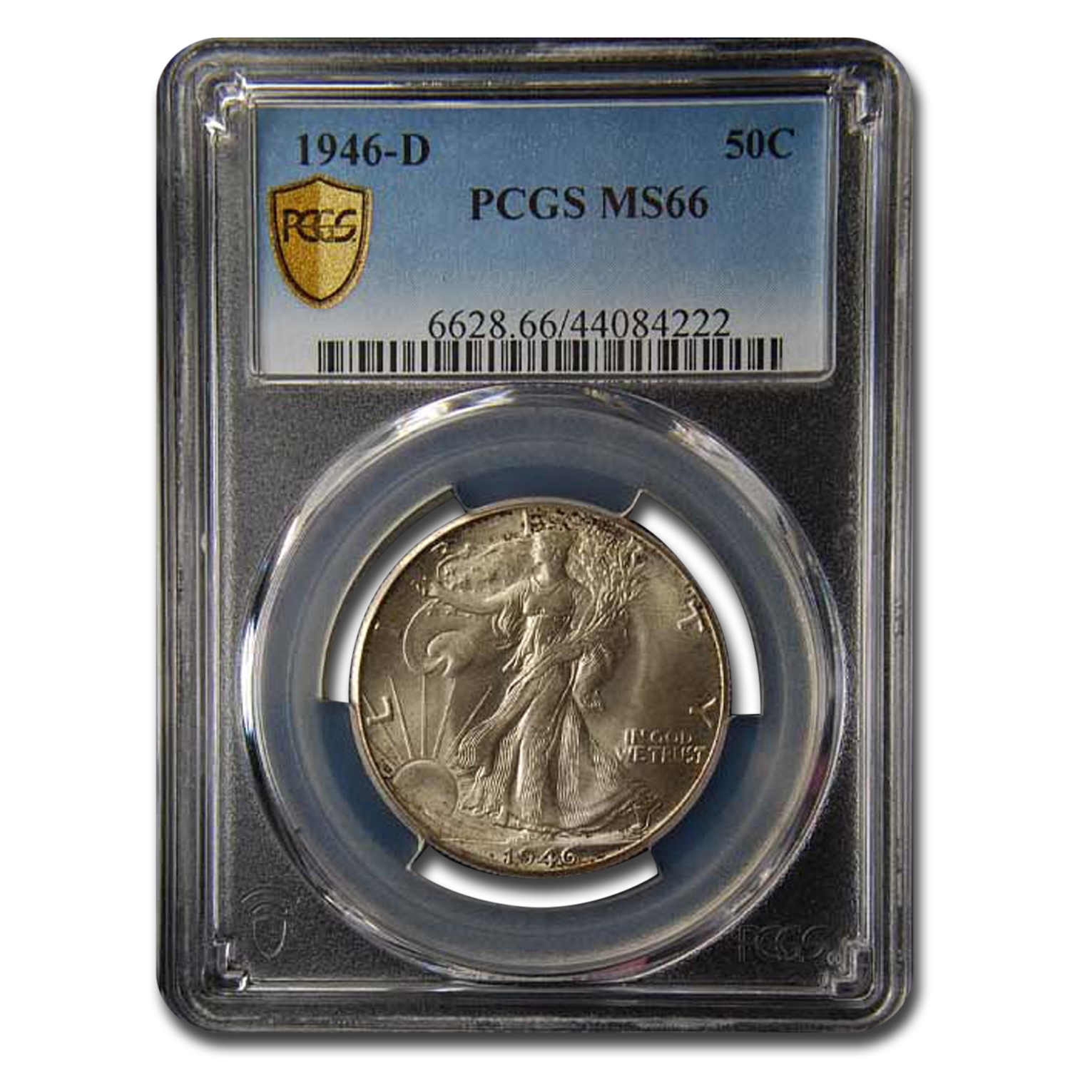 1946-D Walking Liberty Half Dollar MS-66 PCGS