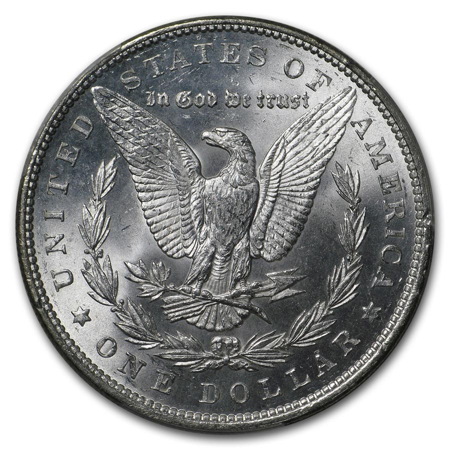 1878 Morgan Dollar 7 TF Rev of 79 MS-63 PCGS