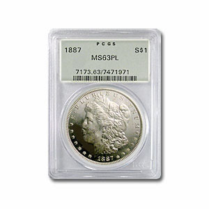 1887 Morgan Dollar MS-63 PL PCGS