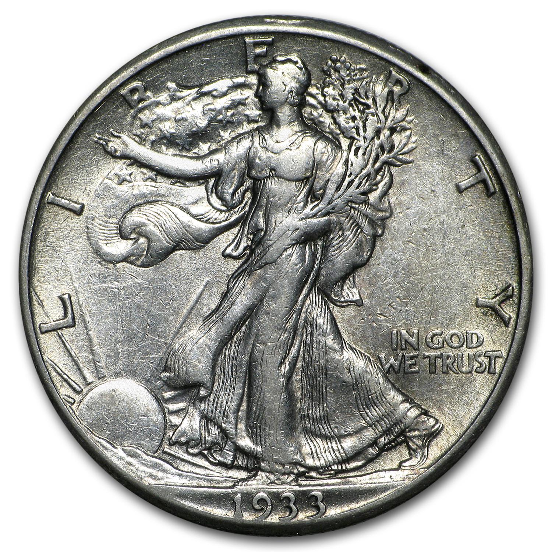 1933 S Walking Liberty Half Dollar Xf Walking Liberty