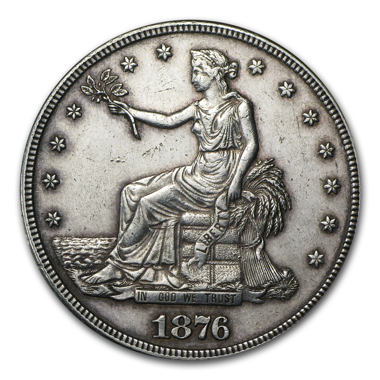 1876-S Trade Dollar - Almost Uncirculated