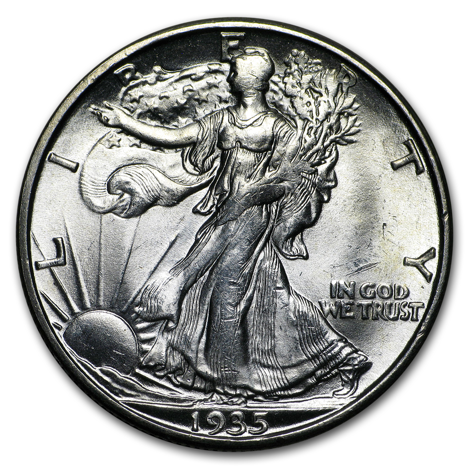 1935-D Walking Liberty Half Dollar BU