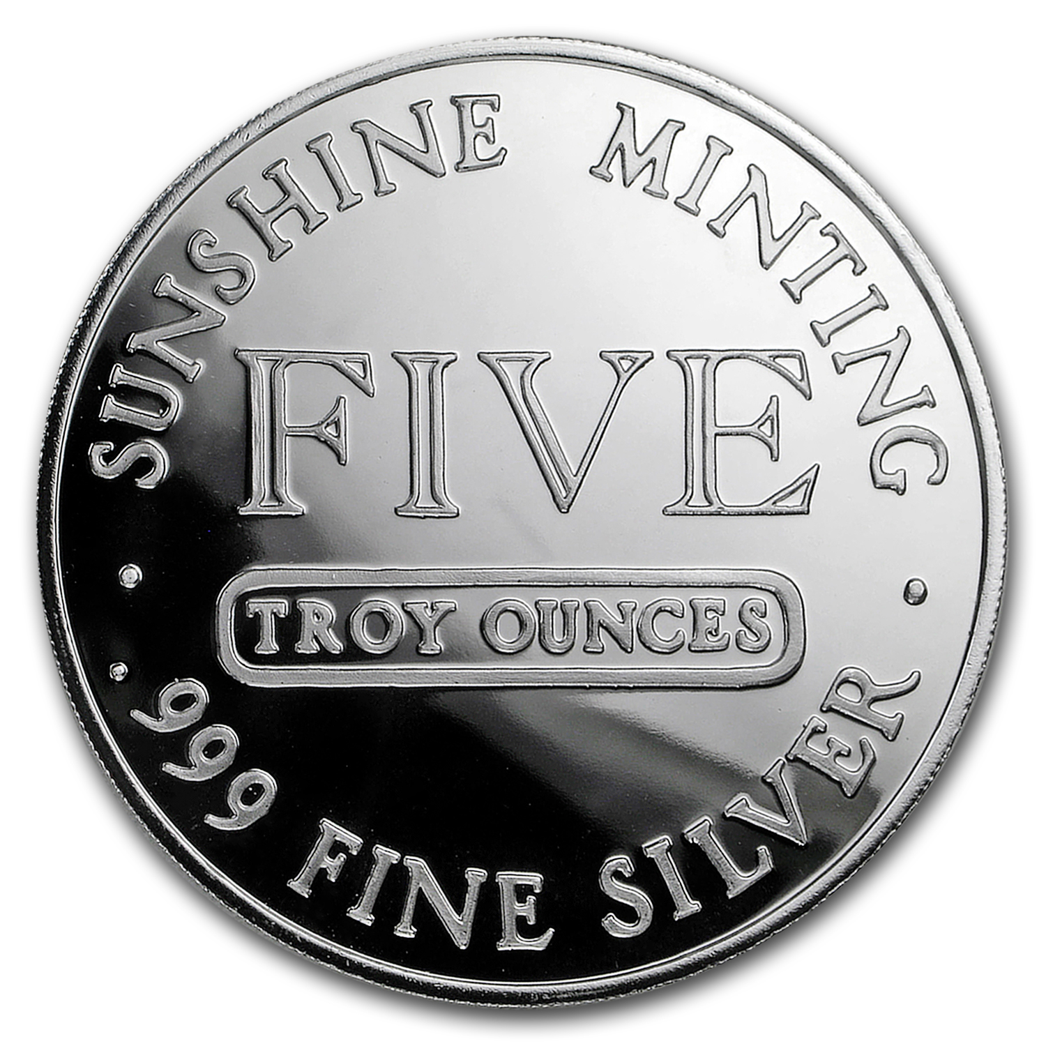 5 oz Silver Round - Sunshine Mint (Vintage Design)