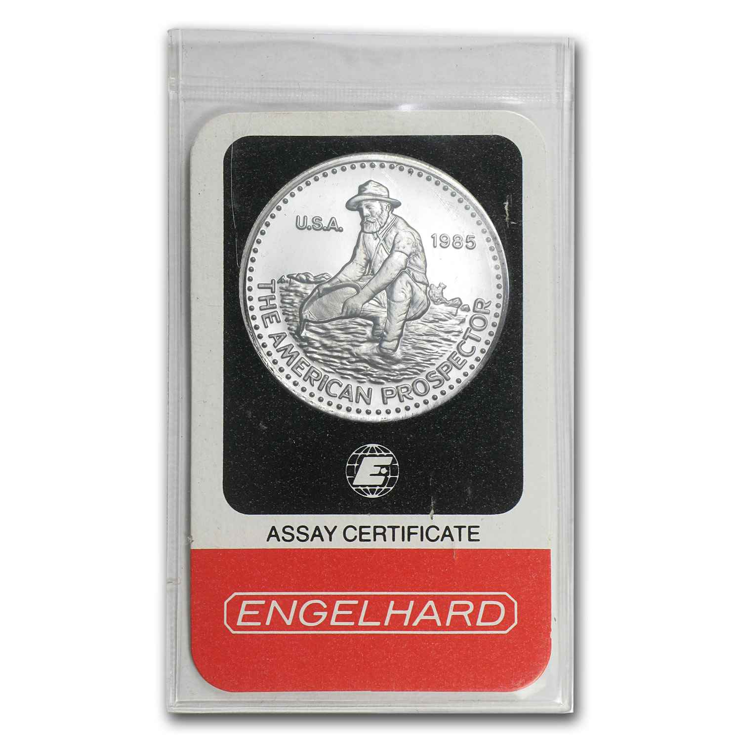 1 oz Engelhard Prospector Platinum Round .9995 Fine (In Assay)