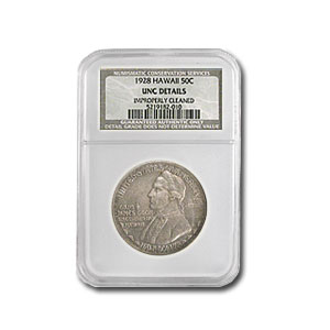 1928 Hawaii Half Dollar Uncirculated Details NGC
