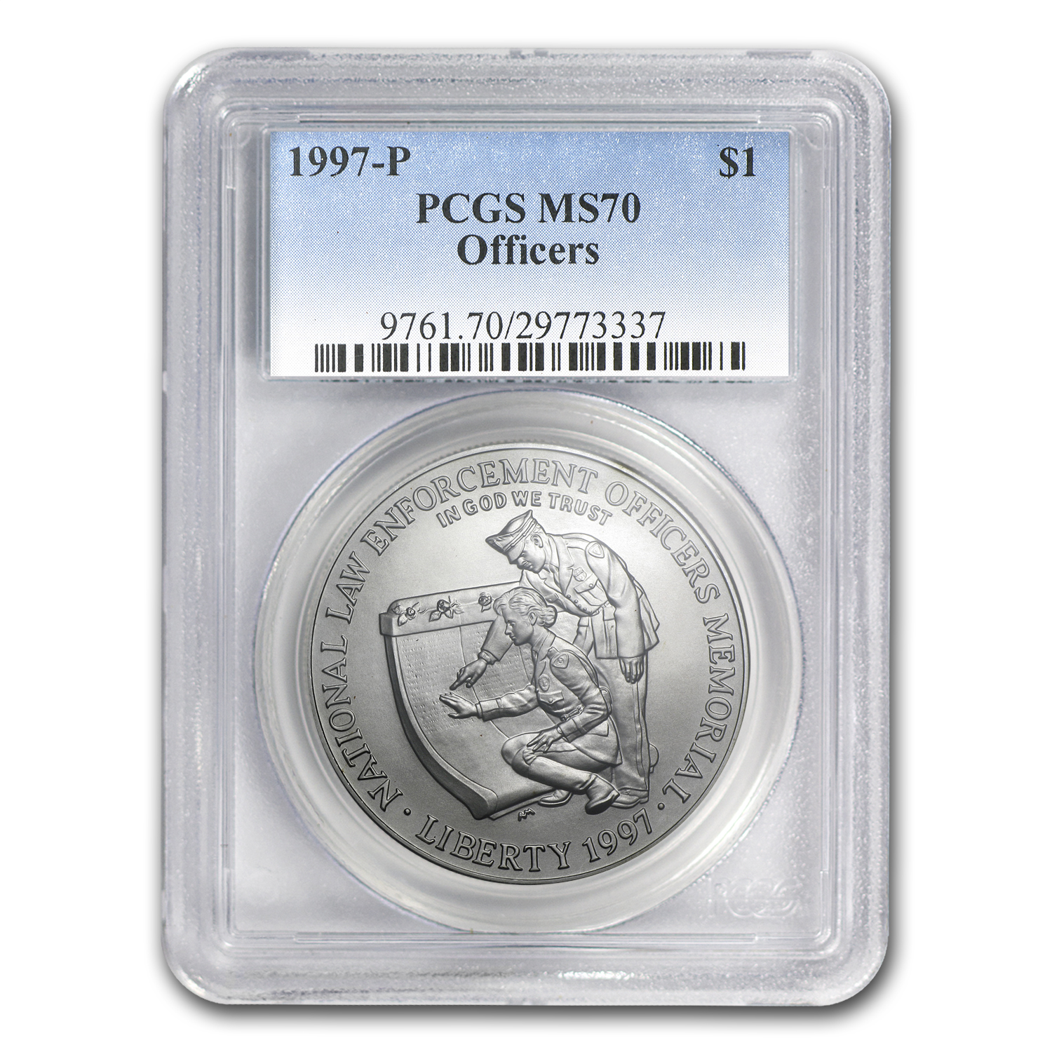 1997-P Law Enforcement $1 Silver Commem MS-70 PCGS