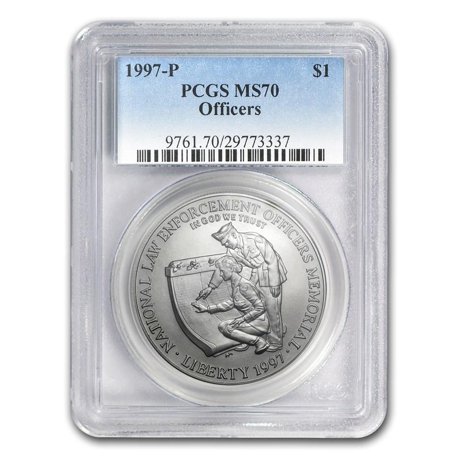 1997 P Law Enforcement 1 Silver Commem Ms 70 Pcgs Value