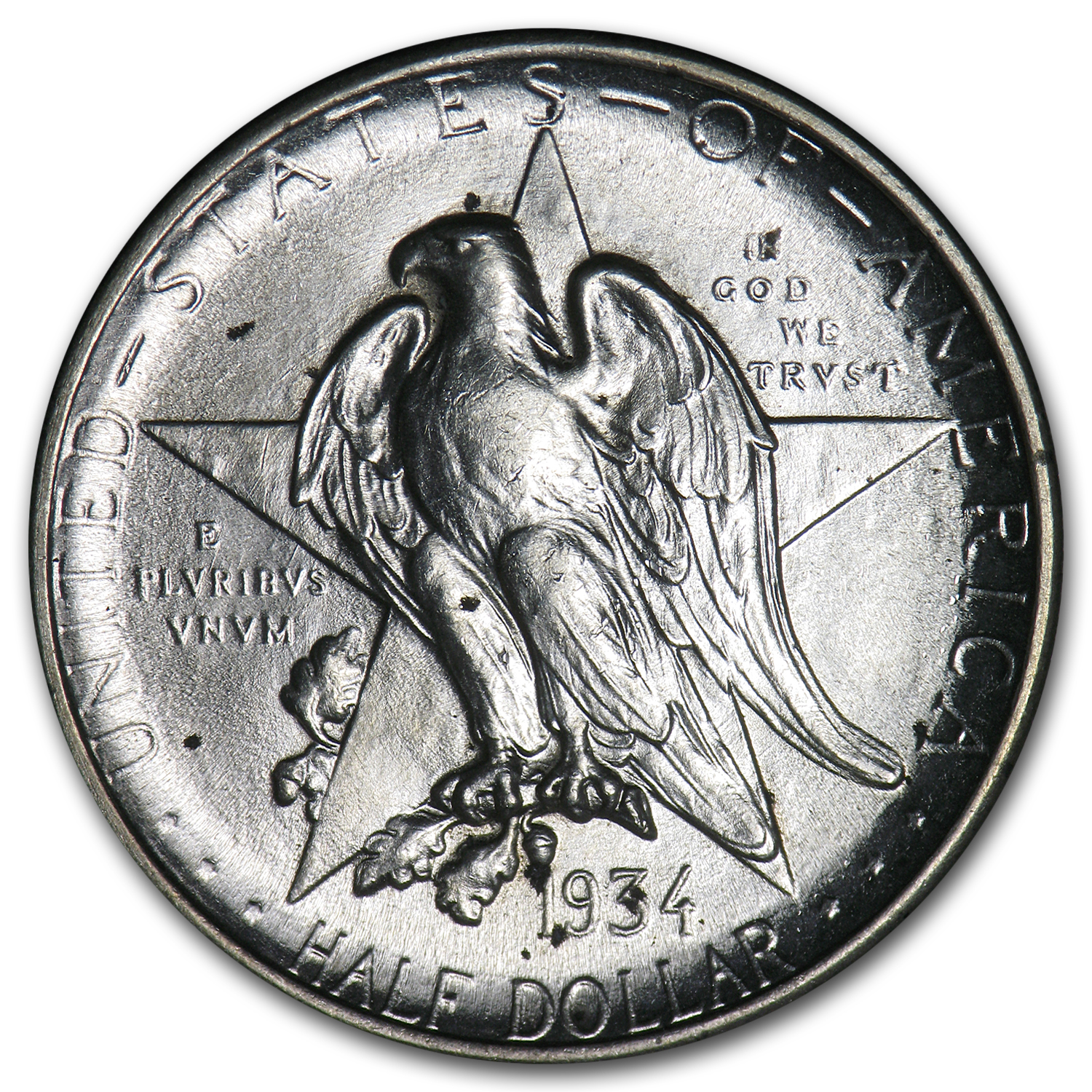 1934 Texas Independence Centennial Half Dollar AU