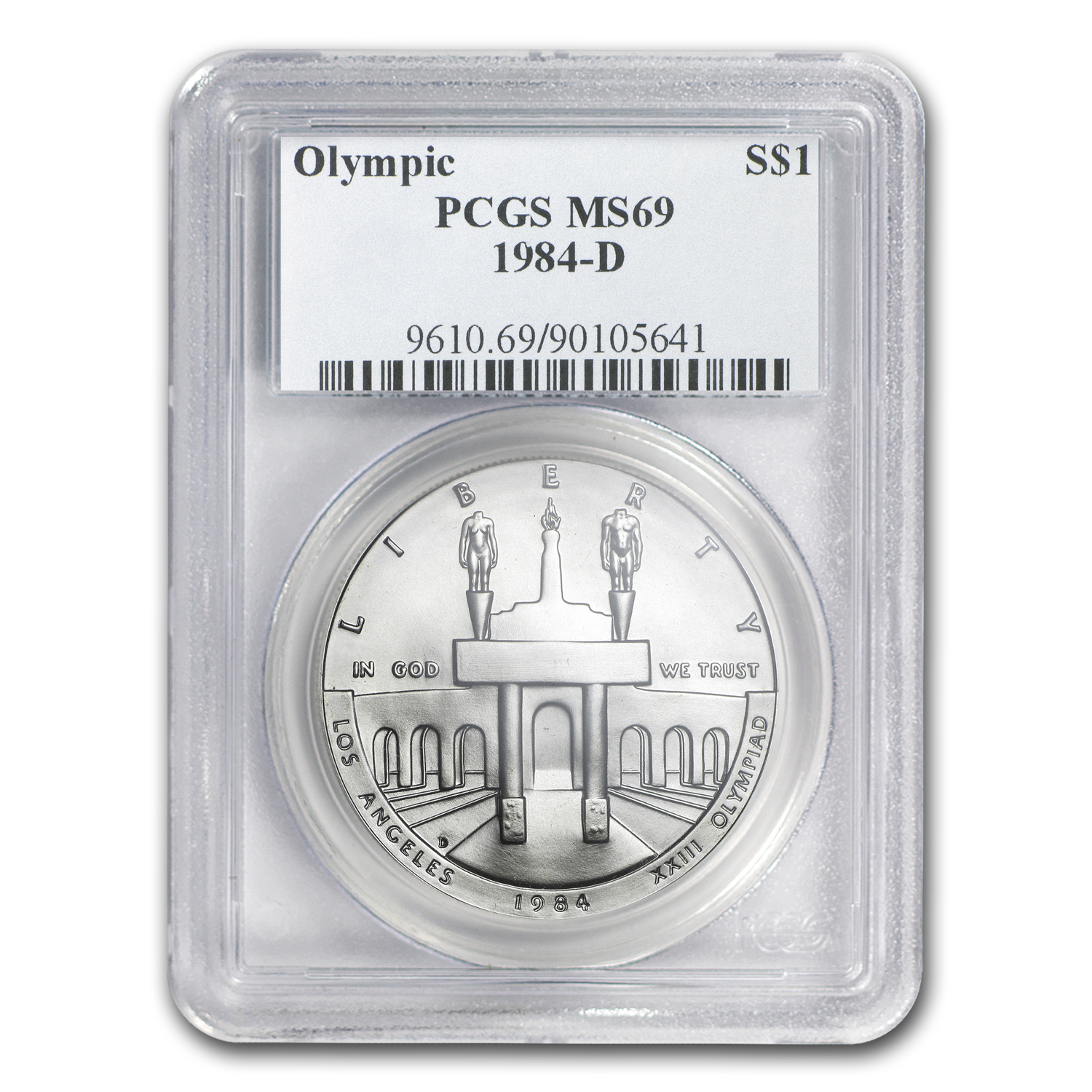 1984-D Olympic $1 Silver Commem MS-69 PCGS