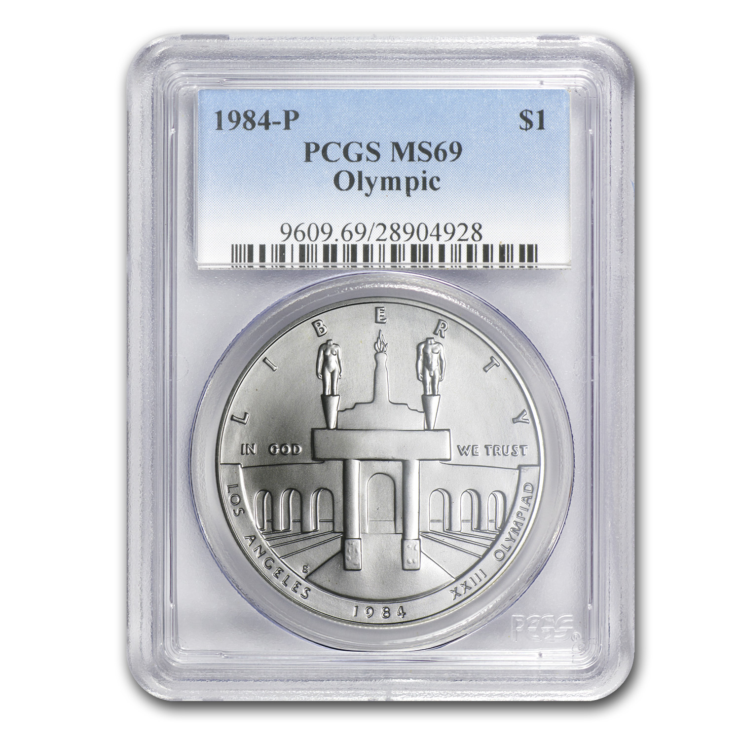 1984-P Olympic $1 Silver Commem MS-69 PCGS