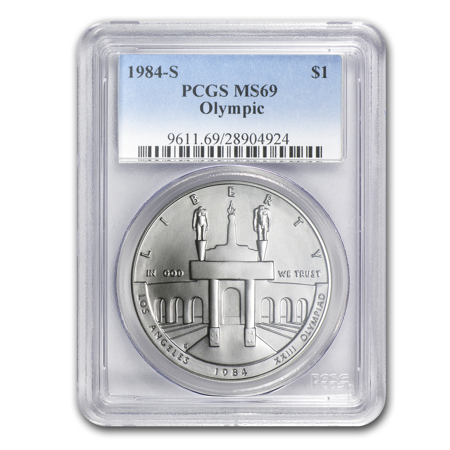 1984-S Olympic $1 Silver Commem MS-69 PCGS