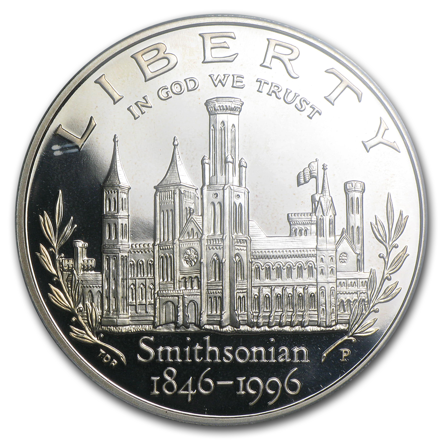 1996-P Smithsonian Institution $1 Silver Commem PR-69 PCGS