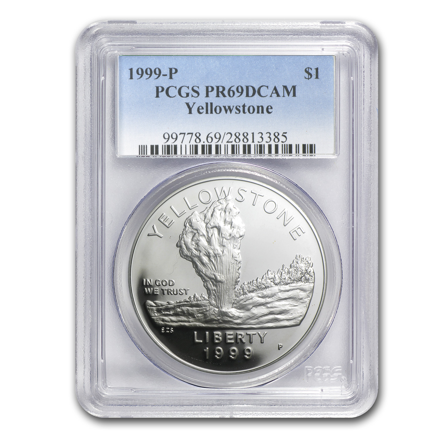 1999-P Yellowstone Park $1 Silver Commem PR-69 PCGS