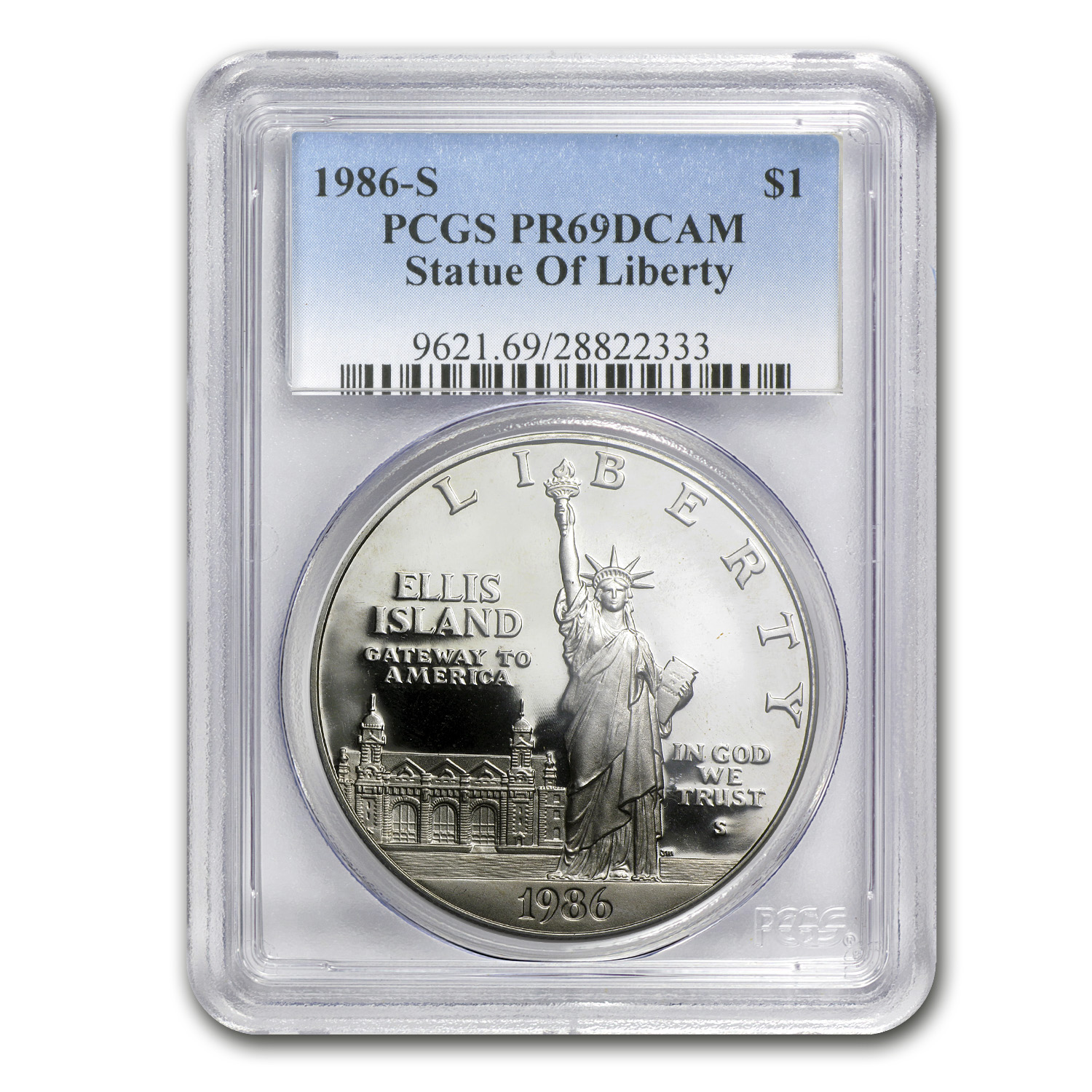 1986-S Statue of Liberty $1 Silver Commem PR-69 PCGS