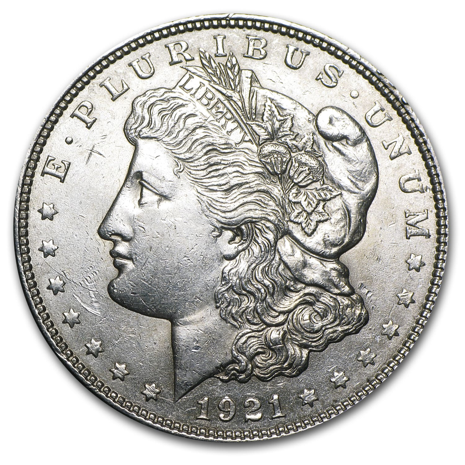 1921 P, D, or S Mint Morgan Silver Dollar AU