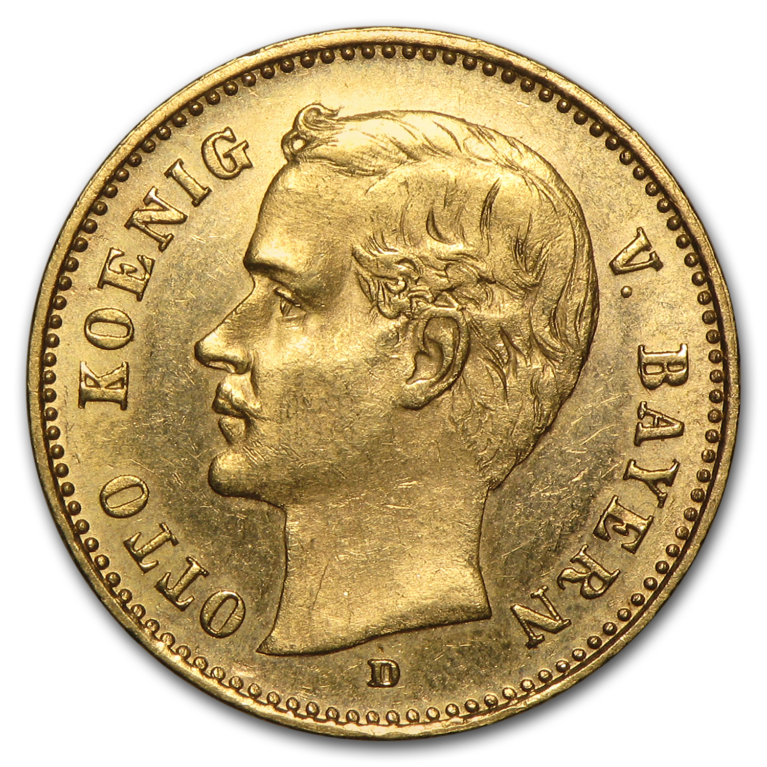 1890-1912 Germany Gold 10 Mark Bavaria Otto Avg Circ