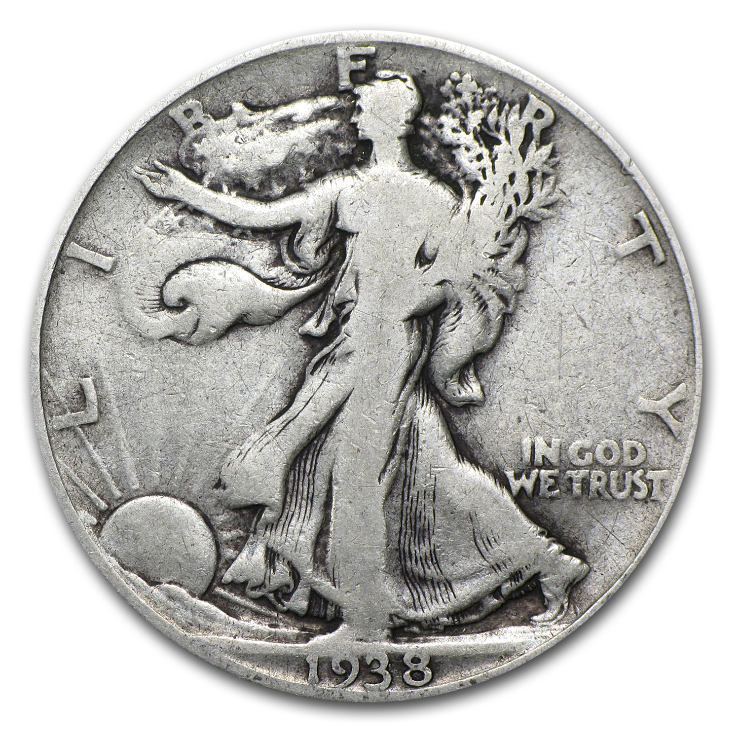 1938-D Walking Liberty Half Dollar Fine