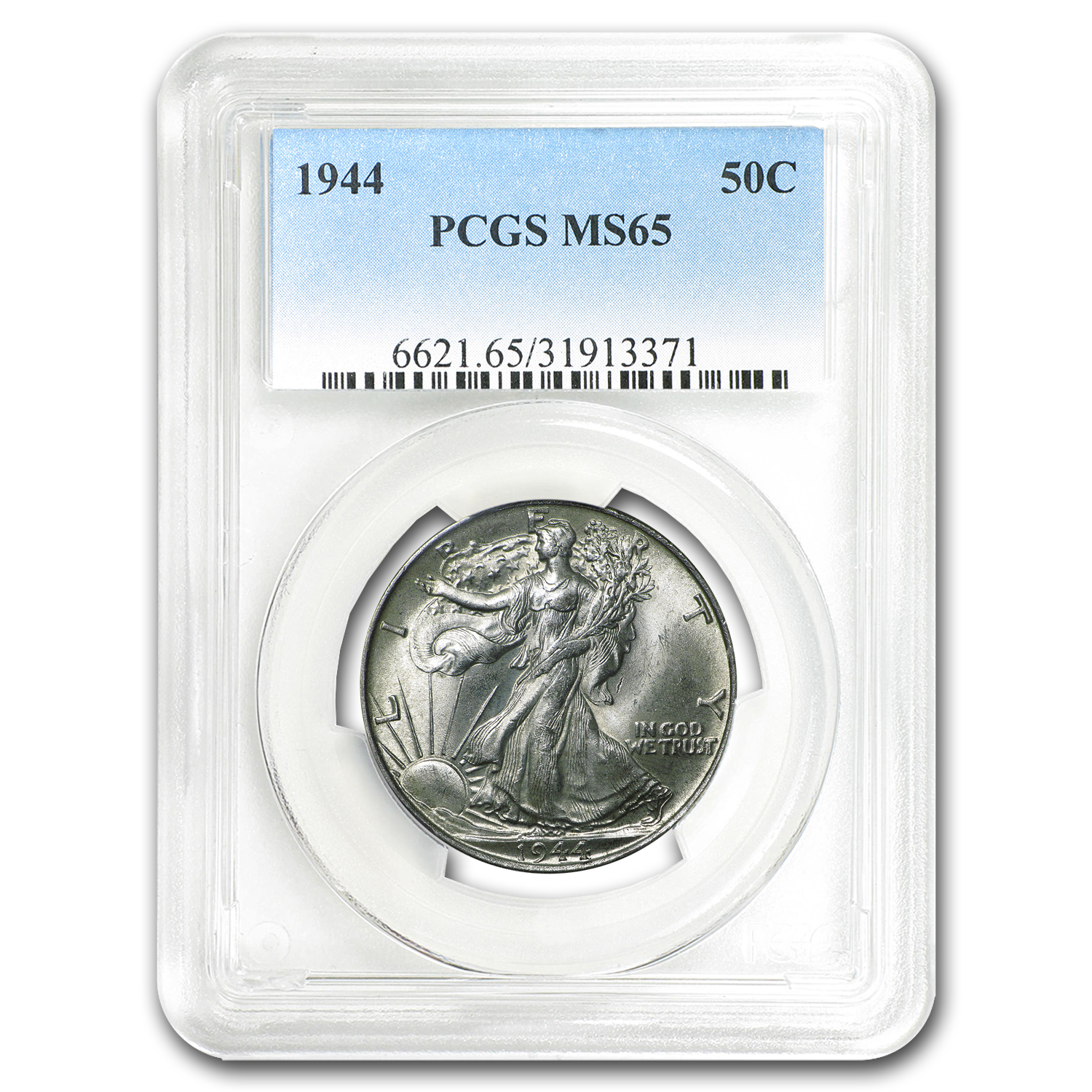 1944 Walking Liberty Half Dollar MS-65 PCGS